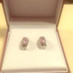 Helzberg ruby and diamond earrings